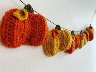 Pumpkin Bunting by Memory lane crochet