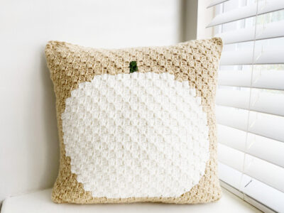 Pumpkin Pillow by Melissa Hassler from Lovable Loops