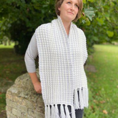 Stormy Stripe Scarf by Hannah Cross from HanJan Crochet