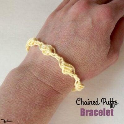 Chained Puffs Crochet Bracelet by CrochetNCrafts