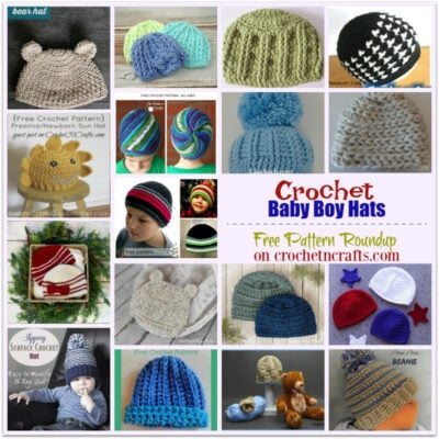 Crochet Baby Boy Hats