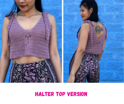 Dragon Fly Crochet Halter Top by Wannipa Yunker from KnitcroAddict.