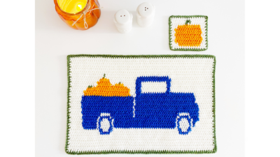 Fall Placemat & Coaster Set by by Melissa Hassler from Lovable Loops