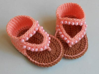 Baby Sandals Flip Flop Beads by Amragul from Crochet/Crosia Home