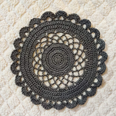 Lacy Crochet Doily Tablemat by rajiscrafthobby
