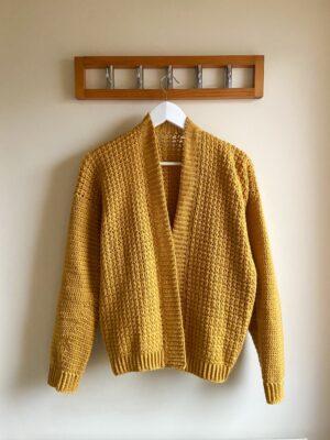 Working Girl Cardigan Crochet Pattern by Veronika Cromwell from Blue Star Crochet