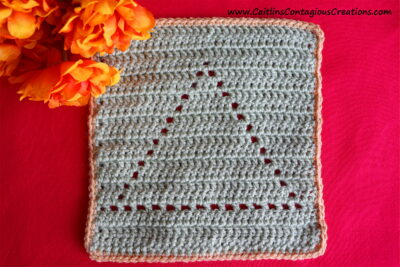 Triangle Shape Filet Square Crochet Pattern by Caitlin's Contagious Creations