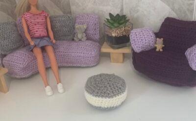 Super Cute Sofa Set - Doll House by Memory Lane Crochet