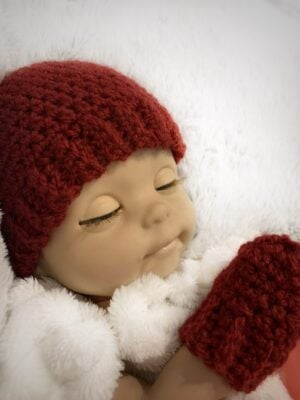 Baby Doll Hat and Mittens by Memory Lane Crochet