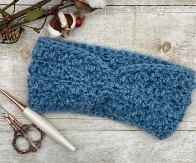 Alpen Ear Warmer by Ashley Edmonds from Through The Loop Yarn Craft