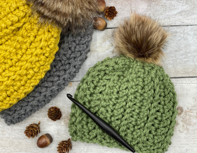 Back-Country Beanie by Ashley Edmonds from Through The Loop Yarn Craft