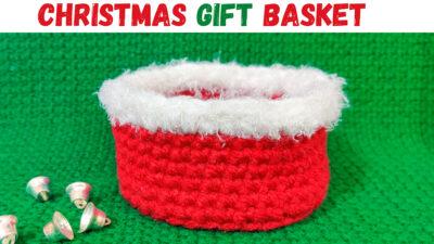 Crochet Christmas Gift Basket by rajiscrafthobby