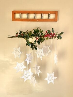 Winter Star Wall Hanging by Veronika Cromwell