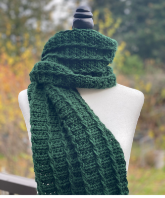 Fairbrook Scarf by Through The Loop Yarn Craft