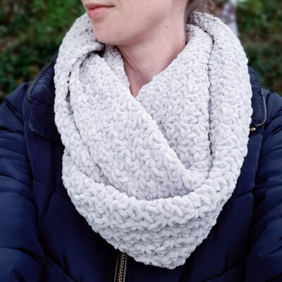 Snowdrop Infinity Scarf by Sarah Ruane from Ned & Mimi