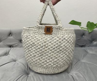 Crochet Basket Bag by KnitcroAddict