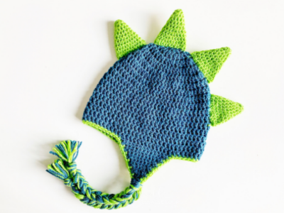 Dinosaur Spike Hat by Melissa Hassler from Lovable Loops.