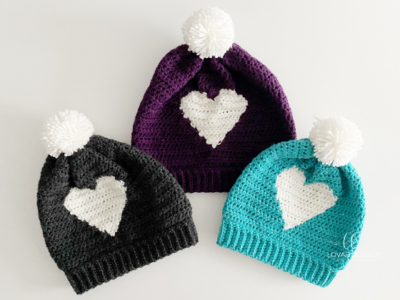 Hdc Heart Hat by Melissa Hassler from Lovable Loops