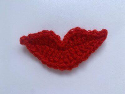Lips Appliqué by Memory Lane Crochet