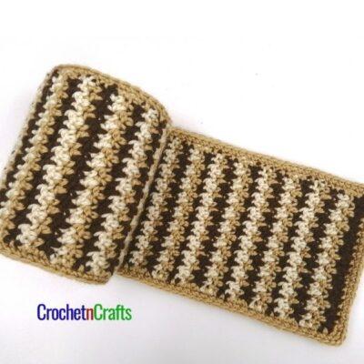 Stashbuster Crochet Striped Scarf by CrochetnCrafts