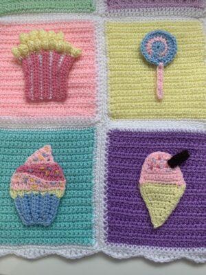 Sweet Treat Appliqués by Rose Hudd from Memory Lane Crochet