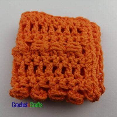 Slanted Cluster Crochet Dishcloth Pattern by CrochetnCrafts