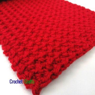 Crunch Stitch Easy Crochet Winter Scarf Pattern by CrochetnCrafts