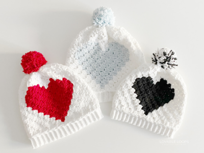 Heart Hat by Melissa Hassler from Lovable Loops