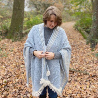 Braided Blanket Crochet Ruana by Hannah Cross from HanJan Crochet
