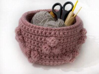 Chunky Geo Basket by Rose Hudd from Memory Lane Crochet