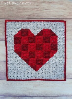Heart Pixel Art Square