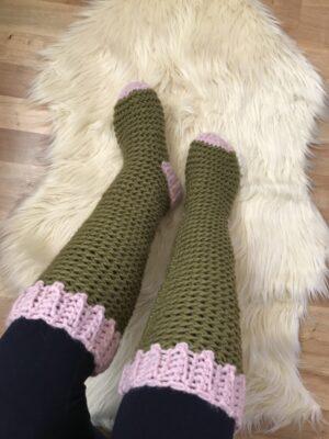 Lake Cabin Crochet Socks by Veronika Cromwell from Blue Star Crochet