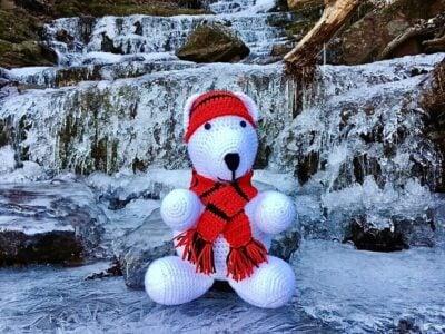 Polar Bear Baby Stuffed Animal by Viana Boenzli from maplewoodroad.com