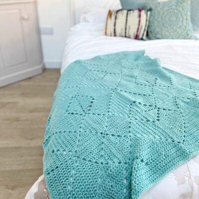 Criss Cross Crochet Blanket by Hannah Cross from HanJan Crochet