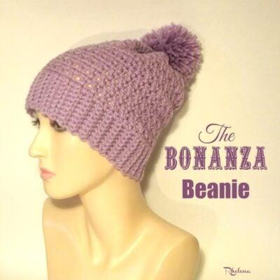 The Bonanza Crochet Beanie Pattern by CrochetnCrafts for Cream Of The Crop Crochet