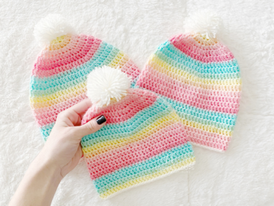Light Weight Beanie by Melissa Hassler from Lovable Loops