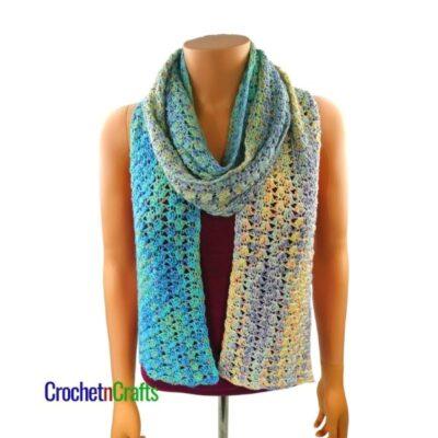 Lightweight Crochet Spring Scarf by CrochetnCrafts