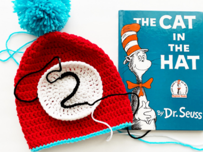 Thing 1 & 2 Hats by Melissa Hassler from Lovable Loops.