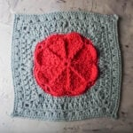 "Spring is on the Way 12"" Afghan Square by Underground Crafter"