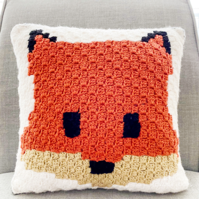 Fox Pillow by Melissa Hassler from Lovable Loops