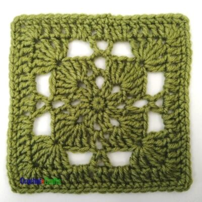 6.5 Inch Crochet Afghan Square by CrochetnCrafts