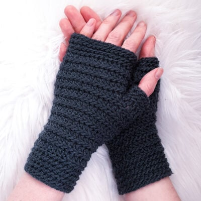 In the Groove Fingerless Gloves by Sarah Ruane from Ned & Mimi.