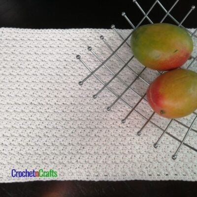 Seed Stitch Crochet Placemat Pattern by CrochetnCrafts.