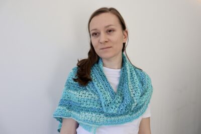 Lacy Blossom Shawl by Miroslava Mihalkova from Exquisite Crochet UK