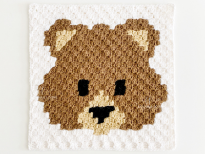 c2c Bear Square by by Melissa Hassler from Lovable Loops.