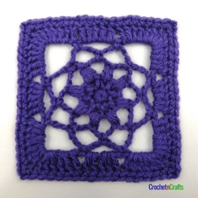 "5.25"" Crochet Lace Square Pattern by CrochetnCrafts"