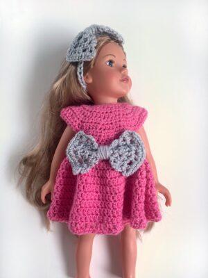 Bowtiful Doll Dress by Rose Hudd from Memory Lane Crochet