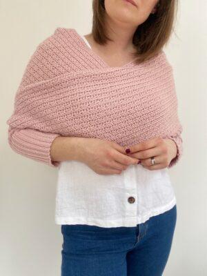Eleanor Sweater Scarf by Hannah Cross from HanJan Crochet.