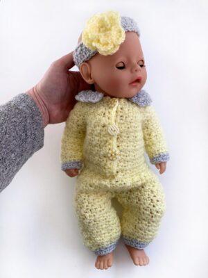 Sweet Lemon Baby Doll Onesie by Rose Hudd from Memory Lane Crochet