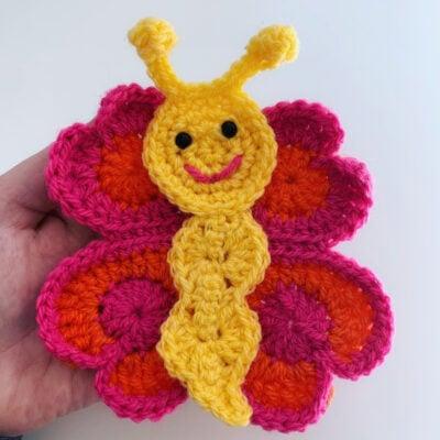 Bella the Butterfly Appliqué by Rose Hudd from Memory Lane Crochet